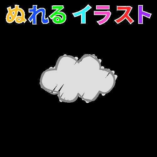 雲手書き風左右対称の無料イラスト素材 塗れる Nureyon